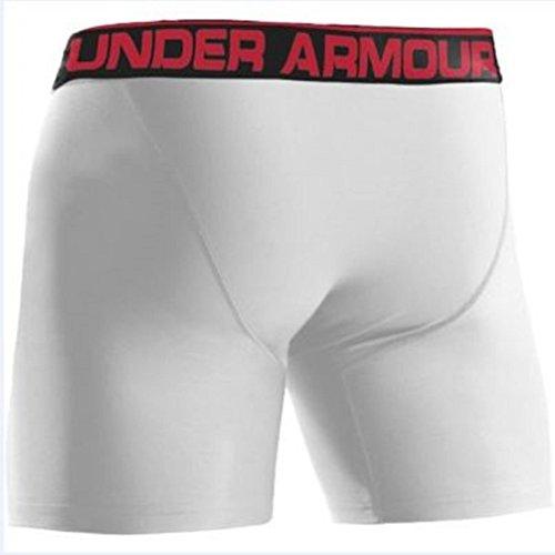 "Under Armour, Mutande Uomo The Original 6"" Boxerjock Bianco"