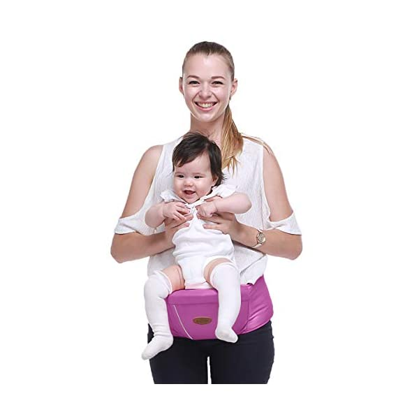 SONARIN Multifunctional Hipseat Baby Carrier,Free Size,Toddler Hip Seat Carrier,Front Carrier Belt,4 Carrying Positions,Adapted to Your Child's Growing,Ideal Gift(Purple) SONARIN Applicable age and Weight:0-36 months of baby, the maximum load: 20KG, and adjustable the waist size can be up to 45.3 inches (about 115cm). Material:designers carefully selected comfortable and cool polyester fabric, light, tear-resistant, breathable,Inner pad : EPP Foam,safe and no deformation. Description:Sturdy buckle and inner soft padded ensuring baby safety and parent's comfort.It takes 1 second to put on.Nothing is more convenient.Side with small pockets, in order to store handkerchiefs, wallets and mobile phones and other small items. 3