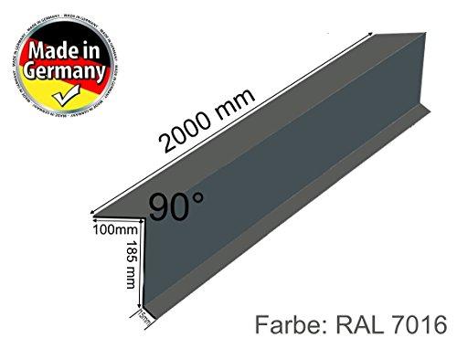 Ortgang Ortgangblech Ortblech  Dach Dachblech Alu Aluminium 2m lang 0,8 mm stark