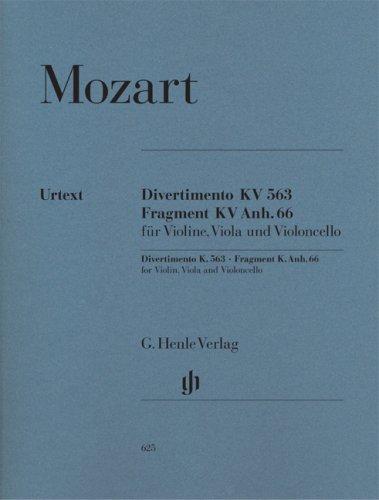 String Trio E flat major K.563 - violin, viola and cello - (HN 625)