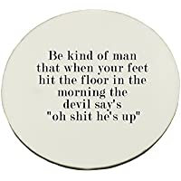 Circle Mousepad with Quote for respect in life.