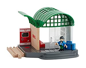 BRIO- Train Station Juego Primera Edad, Multicolor (33745)