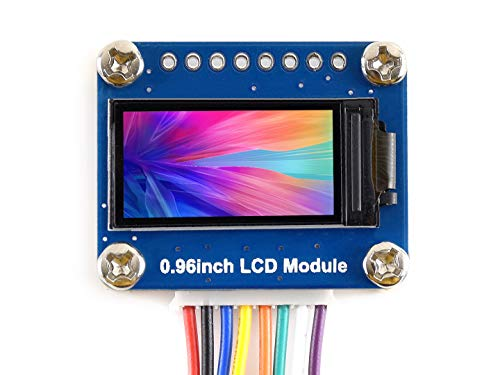 Waveshare 0 96inch LCD Display Module IPS Screen 160x80 HD Resolution SPI  Interface RGB 65K Color