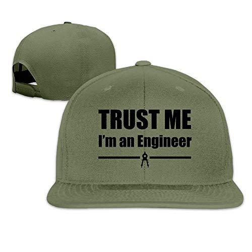 UUONLY Erwachsene Baseball Caps Vertrauen Sie Mir, ich Bin EIN Ingenieur Washed Flat Bill Visor Ball Hüte