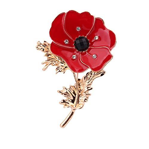lität Rote Blume Corsage Ölgemälde Brosche Dame Kleidung Dekoration Emaille Pin Schmuck ()