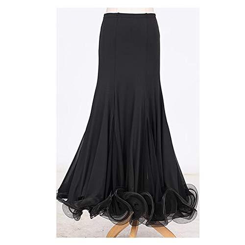 Fee Kostüm Plus Größe - QMKJ Frauen klassisches tanzkleid dunkel schwarz