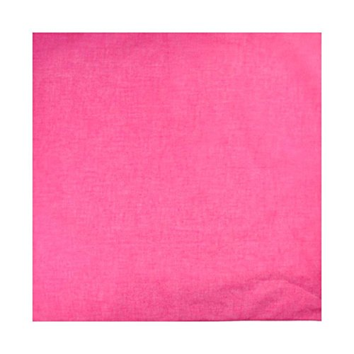 "Cloud9basic Unisex Men Women Plain Colour 100% Cotton Bandana Head Neck Scarf, Perfect Group Bandana, Size: 53 x 53cm (20"" x 20"")"