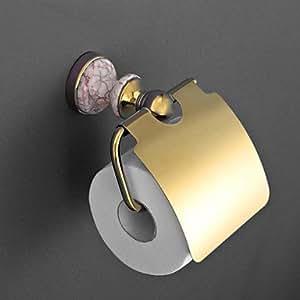 Kai Antik ti-pvd und Finish Messing emmarble Wandtattoo Tür Toilettenpapierhalter mit Deckel