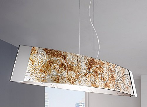 Design-Pendelleuchte 1-Flammig Medici-Barca Farbe: Chrom, Größe: 90cm - Pendelleuchte Medici