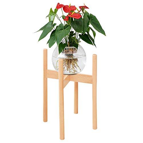 Lamptti Blumentopf-Ständer aus Holz - Eckblumenständer für den Innenbereich, Pflanzgefäß, Ständer für Haus, Garten, Büro (Topf Nicht im Lieferumfang enthalten), Nature, Large (Ständer Blumentopf Holz)