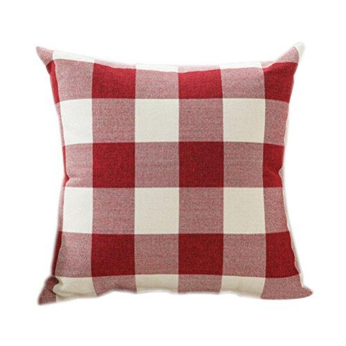 VORCOOL Damas Vintage Cuadros Cuadrado Throw Pillow