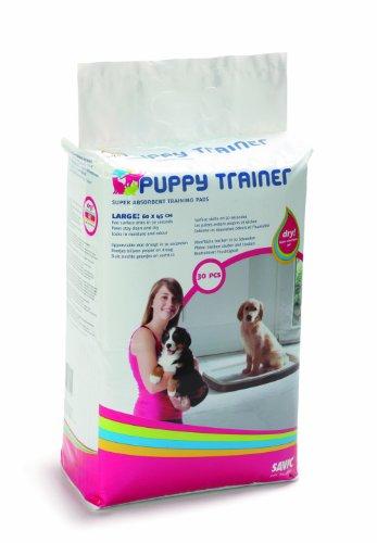 Savic Ersatzpads für Puppy Trainer-Hundetoilette, Größe L, 60 x 45 cm, 30 Stück -
