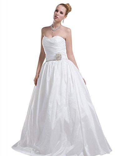GEORGE BRIDE Abnehmbaren Rock Taft mit Metallblumen Hochzeitskleid Brautkleider Hochzeitskleider...