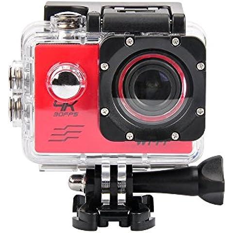 4K 30FPS Azione Fotocamera 16MP Wi-Fi impermeabile 'Sport DV fotocamera grandangolo 170°, supporta scheda Micro SD, 64GB