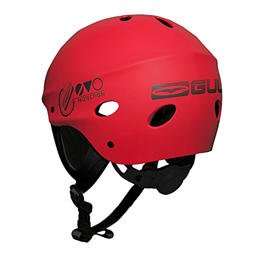 41oYeIgbE5L. SS500  - GUL Evo Watersports Watersports Helmet for Kayaking Kitesurf Windsurf and Dinghy - Red - Unisex - EVA impact protection