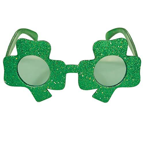 Mymyguoe St. Patricks Day Party-Glitter Kunststoff Shamrock Gläser Irish Day Zubehör Cloer Hut - Herren Sweatshirt Glitter