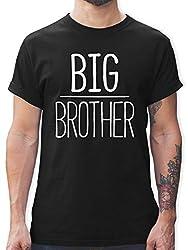 Bruder & Onkel - Big Brother - S - Schwarz - L190 - Tshirt Herren und Männer T-Shirts