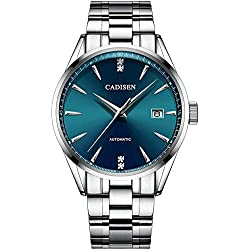Cadisen 1033, Seiko NH35, dial azul, brazalete de acero