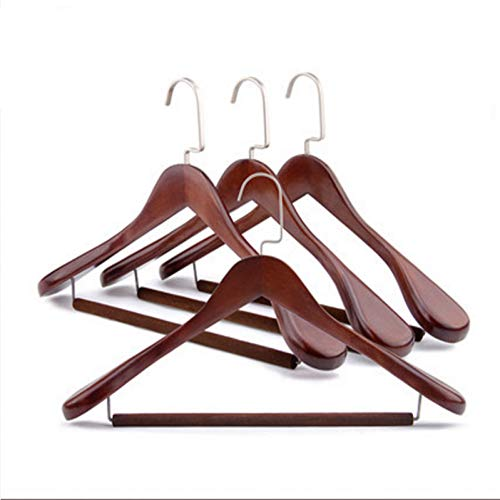 Mann Holz Kostüm - WWDDVH Kleiderbügel, 45-40 cm, aus Massivholz, für Männer und Frauen, Kostüm, Kleiderbügel aus Holz, breite Schultern, Nicht spurlos 40cm Flocking