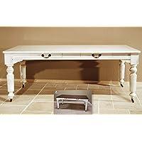 Comparador de precios Casa-Padrino Vintage Pine Dining Table Antique Style White Rustic Solid with Drawers - Country Style Pine Table, Dimensiones de la Mesa:160 x 90 x 78cm H - precios baratos