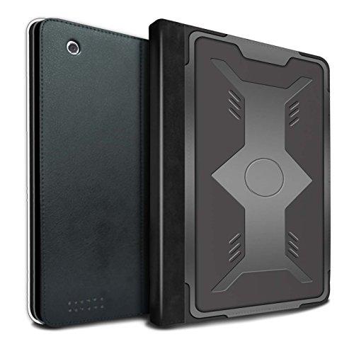 Stuff4® PU-Leder Hülle/Case/Brieftasche für Apple iPad 2/3/4 Tablet/Schild Muster/Rüstung Kollektion
