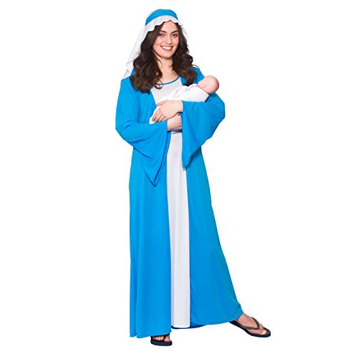LADIES BLUE MARY NATIVITY CHRISTMAS FANCY DRESS (Dress Ideen Fancy Blue)