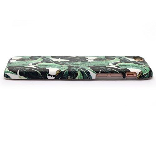 5.5 iPhone 7 Plus SGSELLER TPU Slim Fit Ultra Dünn Stoßfest Anti-Kratz Anti-Fingerabdruck Matt Schutzhülle Gehäuse, Plastik, Marmor (Weiß) Leaves