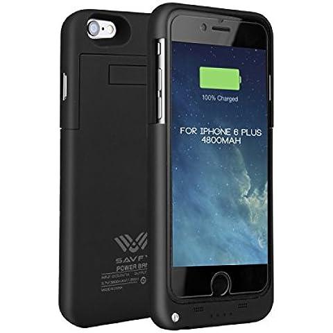 Funda Batería iphone 6 plus / 6s plus , SAVFY® Case carcasa Con Batería Cargador-batería Externa Recargable 3200mAh Para iPhone 6 plus / 6s plus 5,5 (Negro)