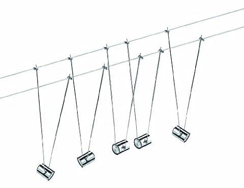 Paulmann Leuchten Kit Câbles, Halogène, 5X20W, Telecomet Ii 230V/12V, Gu4,