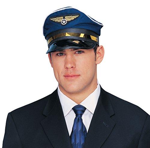 Franco Blue Pilot Hat Adult