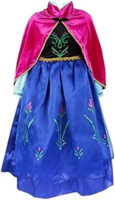 ELSA & ANNA® Princesa Disfraz Traje Parte Las Niñas Vestido (Girls Princess Fancy Dress) ES-DRESS208-SEP