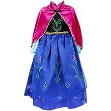 ELSA & ANNA® Princesa Disfraz Traje Parte Las Niñas Vestido (Girls Princess Fancy Dress)