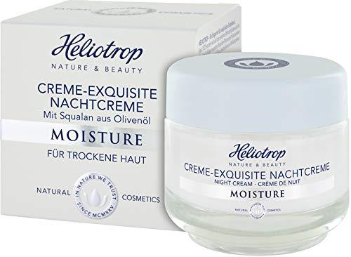 HELIOTROP Naturkosmetik MOISTURE Creme-Exquisite Nachtcreme, Für ein samtweiches Hautgefühl, Stärkt die sensible Hydro-Lipid-Balance, 50ml -