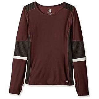 ABS by Allen Schwartz Activewear Women's Reflective Pullover, Burgundy, L