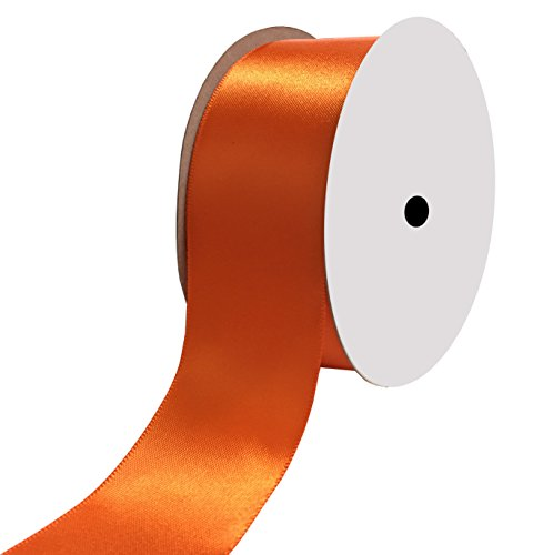 duoqu 1-1/5,1 cm breit Double Face Satin Band 25 Meter 1-1/2 inch wide and 25 yards length Torrid Orange -