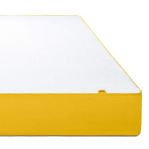 Eve Matelas à mémoire de forme Blanc-Jaune | 140 x 190 cm