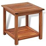 Tidyard- Tavolinetto, Tavolino da caffè in Legno Massello di Acacia 45x45x45 cm