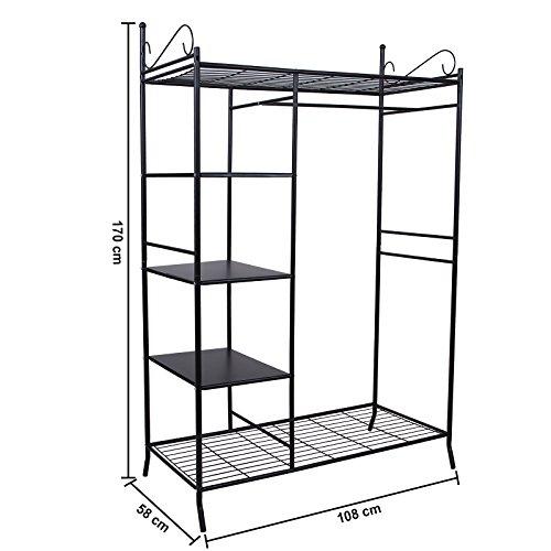 preisvergleich songmics metall kleiderschrank faltschrank willbilliger. Black Bedroom Furniture Sets. Home Design Ideas