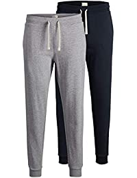170149bb089428 JACK & JONES 2er Pack Set Herren Jogginghosen Sweatpants aus Baumwolle  schwarz, blau, grau