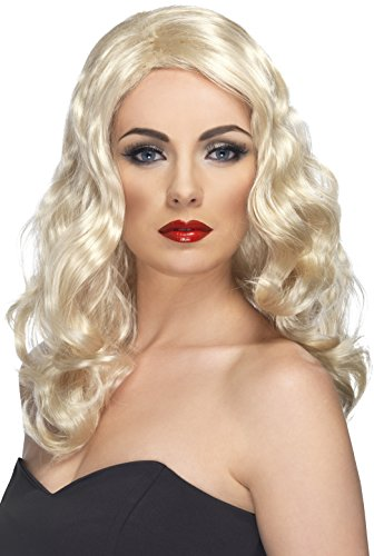 ur Perücke mit Locken, One Size, Blond, 42147 (Christmas Fancy Dress Ideen Für Damen)