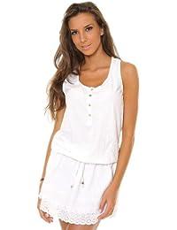 Carla Giannini Femmes Robe Blanc A397-WHITE