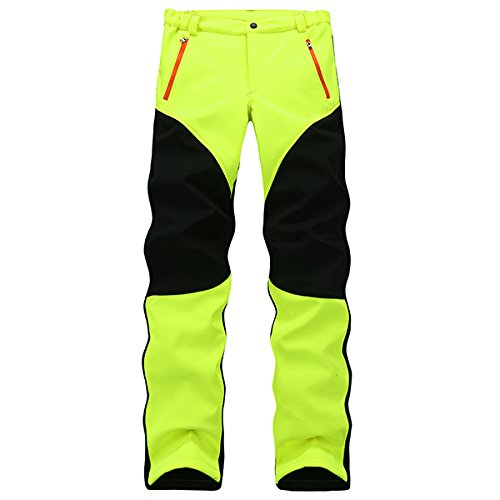 Alamor Herren Anti-Uv Polar Fleece Ski Pants Wasserdichte Hardwear Hosen-Grün-M