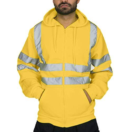 Kaiki Herren Männer Jacke Bomber Mantel Zweifärbig Reflektierendes Band Gesteppte Arbeitsjacke...
