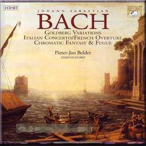J.S. Bach - Goldberg Variations/Italian Concerto/French Overture/Chromatic Fantazy & Fugue - P.J. Belder (2 CD Set) (CD)