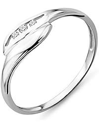 Miore Damen Ring 9 Karat (375) Weißgold Brillanten