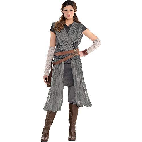 Kostüme USA Star Wars 8: The Last Jedi Rey Kostüm für Erwachsene, inkl. Jumpsuit, Armstulpen und Gürtel - Mehrfarbig - - Last Of Us Kostüm