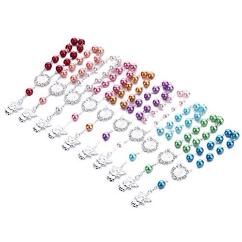 Toyvian Baby Taufe Armband Kreuz Rosenkranz Engel Armband Kinder Schmuck (zufällige Farbe)