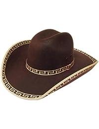 Modestone Felt Feel Sombrero Vaquero Brown