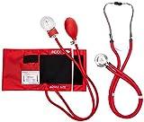 Primacare Medical Supplies DS-9181 Blutdruckmessgeräte-Set mit Sprague-Rappaport-Stethoskop, Rot
