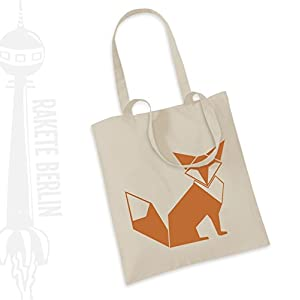 Jutebeutel Stoffbeutel ' Fuchs origami '